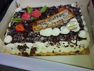 Birthday Sponge Cake (Patisserie) on Request*