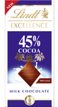 Lindt Excellence Milk 45% Cocoa 80g