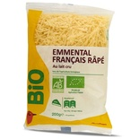 Auchan or Carrefour Grated emmental cheese Organic 200g