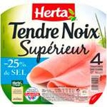 Herta Tendre Noix Ham 4 slices -25% salt 160g