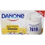 Danone Vanilla Yoghurts with whole milk 4x125g