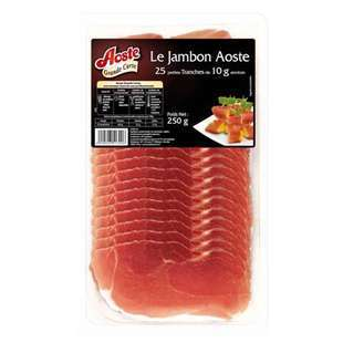 Aoste dry cured ham slices x25 250g