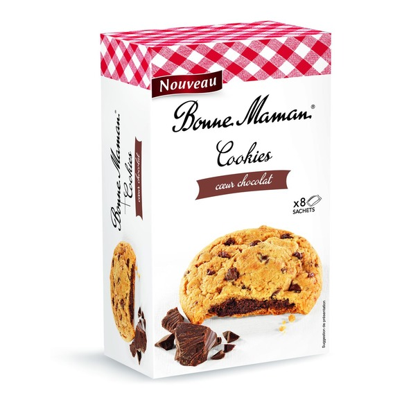 Bonne Maman Cookies heart in chocolate 240g