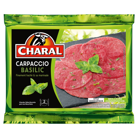 Charal Beef Carpaccio with Basil 240g
