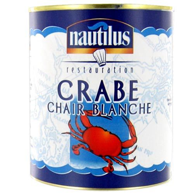 Crab White meat Tin 4/4- 800g Nautilus 800g