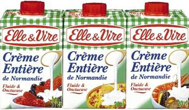 Elle & Vire Normandy UHT whole cream 3X20 CL 20cl