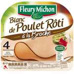Fleury Michon Roasted Chicken breast x4 thin slices 120g
