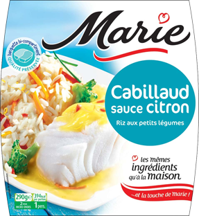 Marie Cod with lemon sauce & rice with vegetables 290g