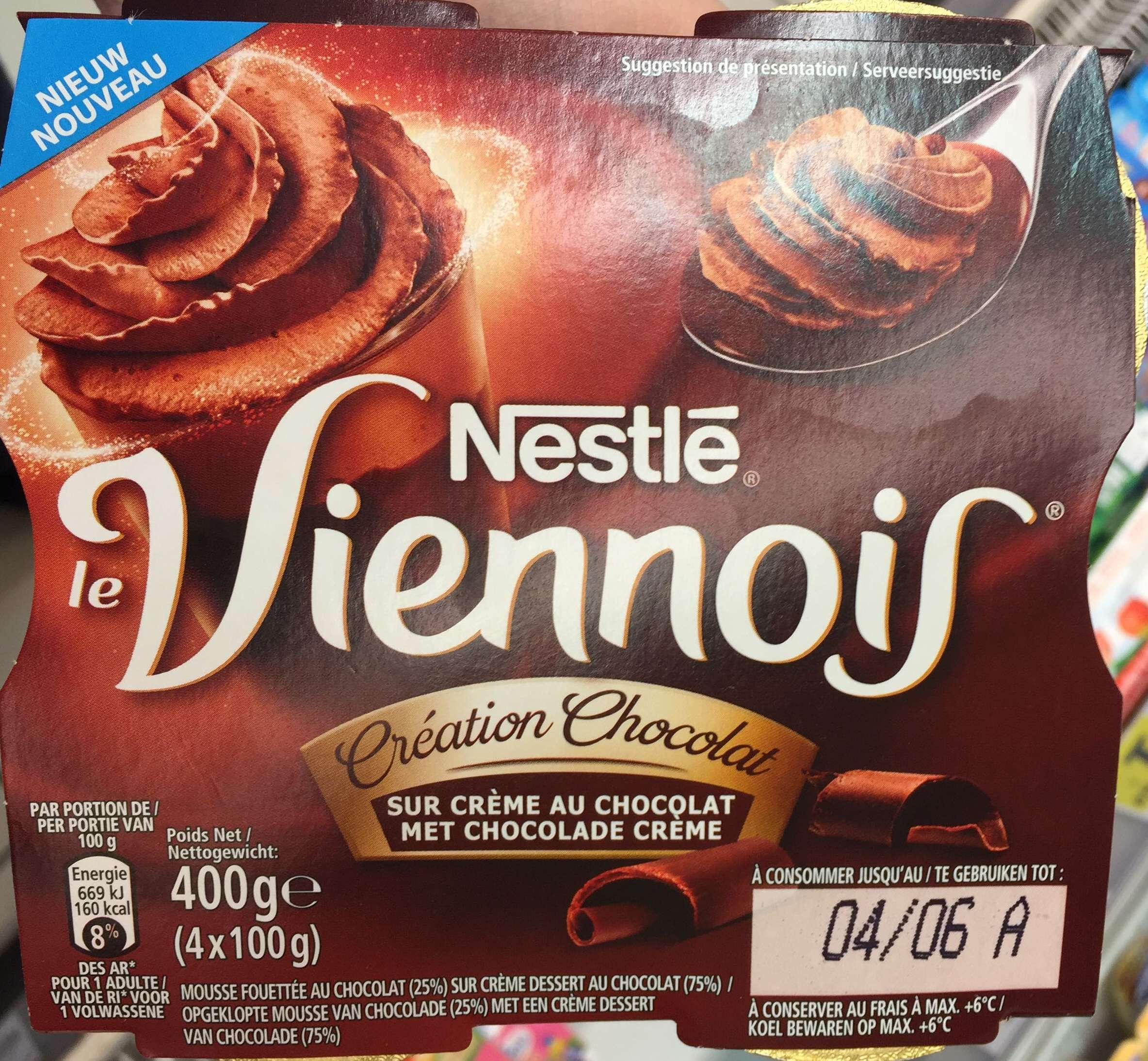 Nestle Whipped Chocolate Viennois 4x100g