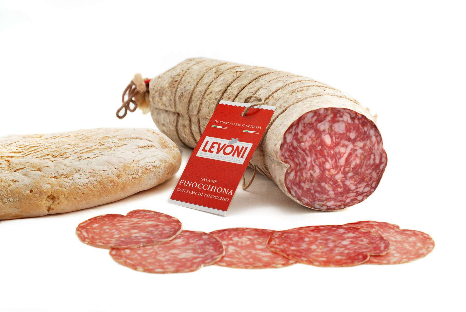 Salame Finocchiona Toscana with Fennel seeds sliced per 100g* 100g