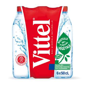 Vittel Natural mineral still water 6x50cl